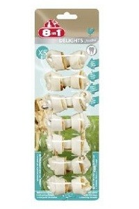 8 in 1 DELIGHTS Dental XS Косточка для собак мелких пород 7.5см -7шт